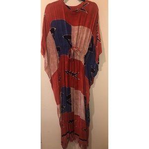 Dresses & Skirts - Vintage drawstring cover up